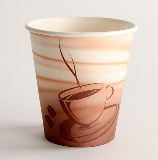 disposable paper coffee cup with sleeve and lids_single wall paper cup