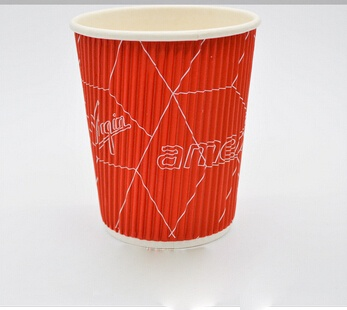 Wholesale Ripple wall paper cups, hot drinking ripple wall paper cups