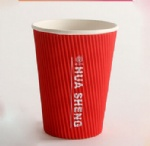 coffee shop paper cup custom logo takeway paper cup ripple wall 10 oz disposable coffee cups